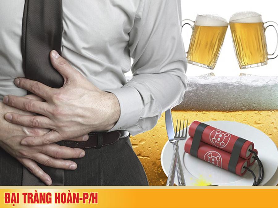 """Uống bao nhiêu rượu bia thì không hại """"ví"""" và đại tràng?"""